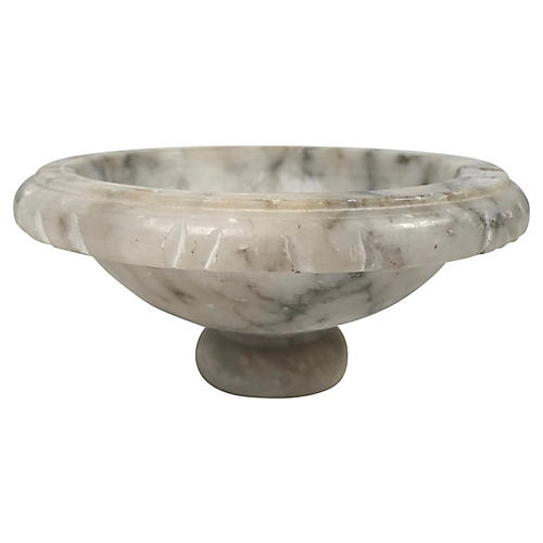 Alabaster Pedestal Dish