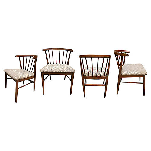 Mid Century Modern Dining Chairs, s/4