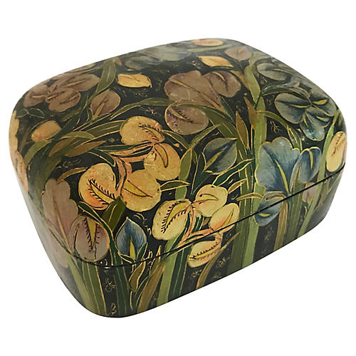 Indian Hand Painted Trinket Box