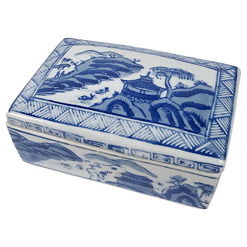 Asian Chinoiserie Lidded Box
