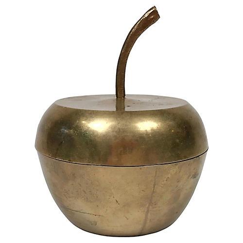 Mid-Century Modern Brass Apple Jar