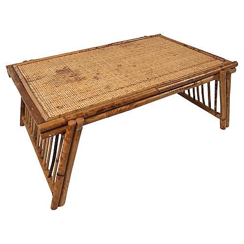 Folding Bamboo Breakfast Tray Table