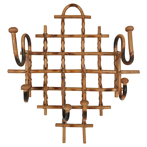 Burnt Rattan Wall Hook