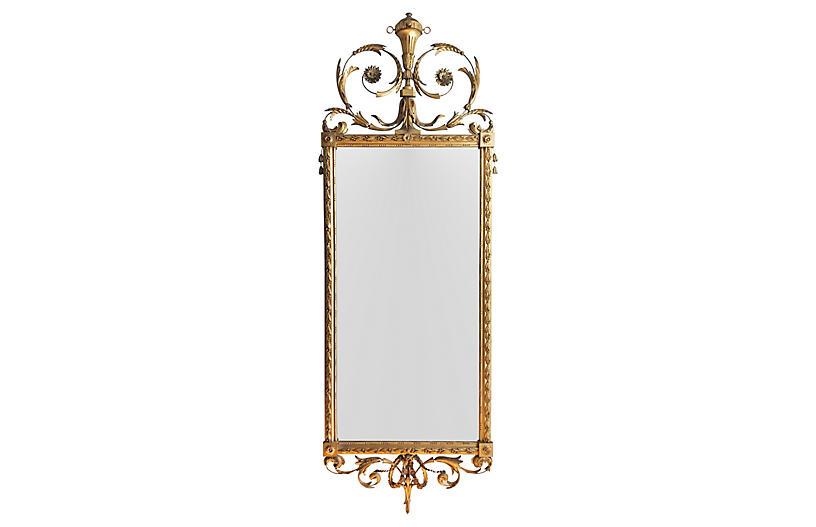 Louis XVI-Style Giltwood Wall Mirror