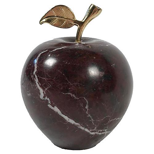 Stone Apple w/ Brass Stem
