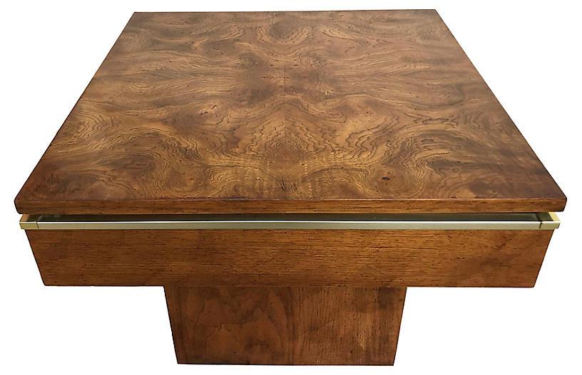 Mid-Century Modern Burlwood Accent Table
