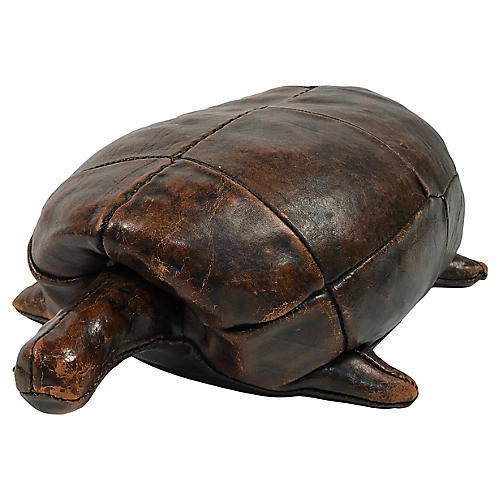 Abercrombie & Fitch Leather Turtle Stool
