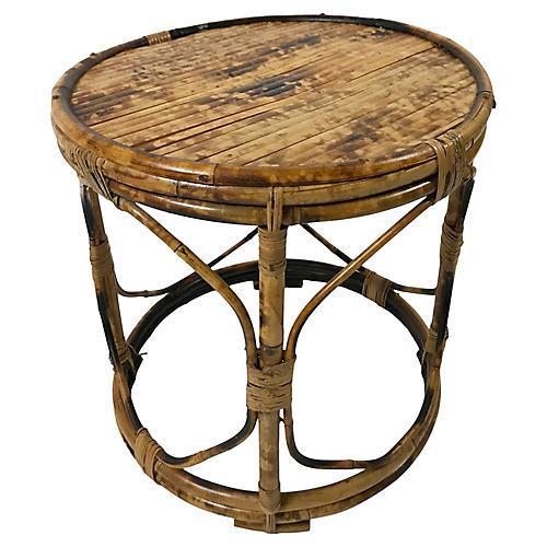 Round Tortoise Bamboo Stand