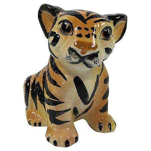 Ceramic Tiger Cub Figure