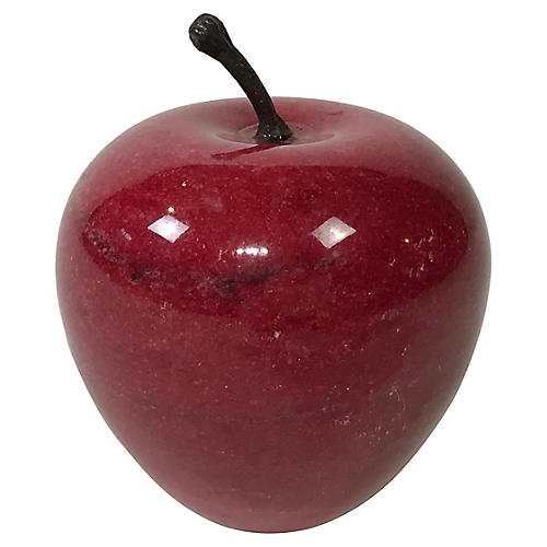 Red Marble Apple Paper Weight