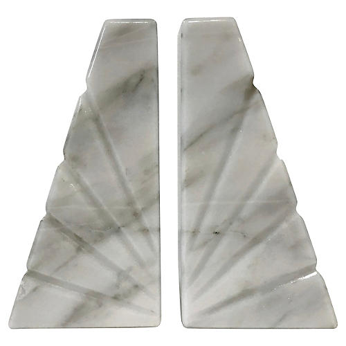 Mexican Onyx Bookends, Pair