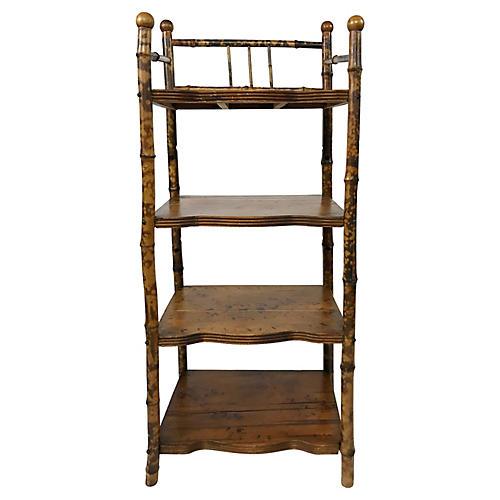 Four-Tier Bamboo Shelf