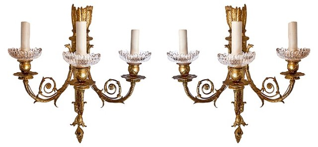 Louis XVI-Style Sconces, Pair