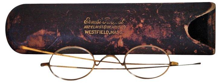 Antique Gold-Plated Eyeglasses
