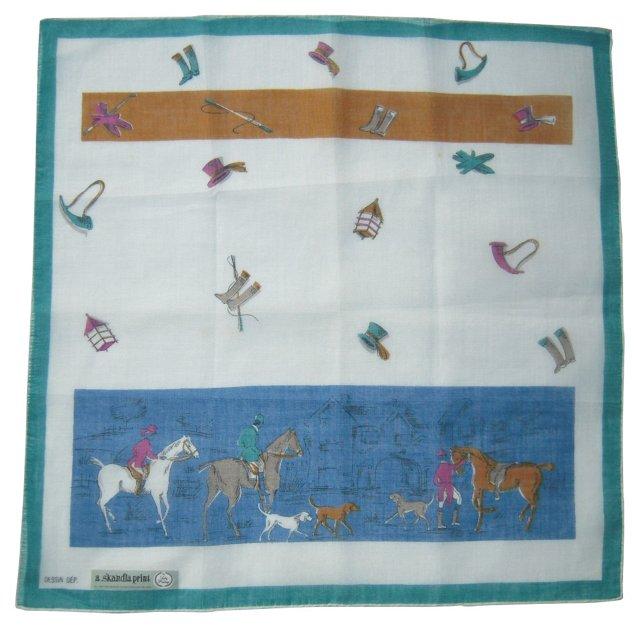 Fox Hunt Handkerchief
