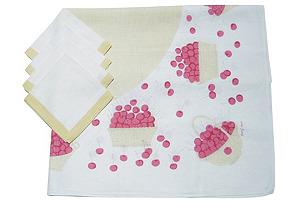 Tammis Keefe Tablecloth & Napkins, S/5