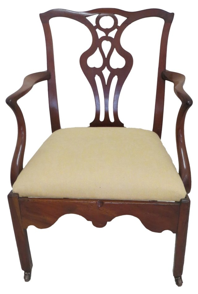 19th-C. Chippendale-Style Armchair