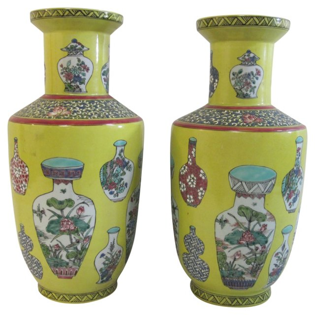 Republic-Period Baluster Vases, Pair