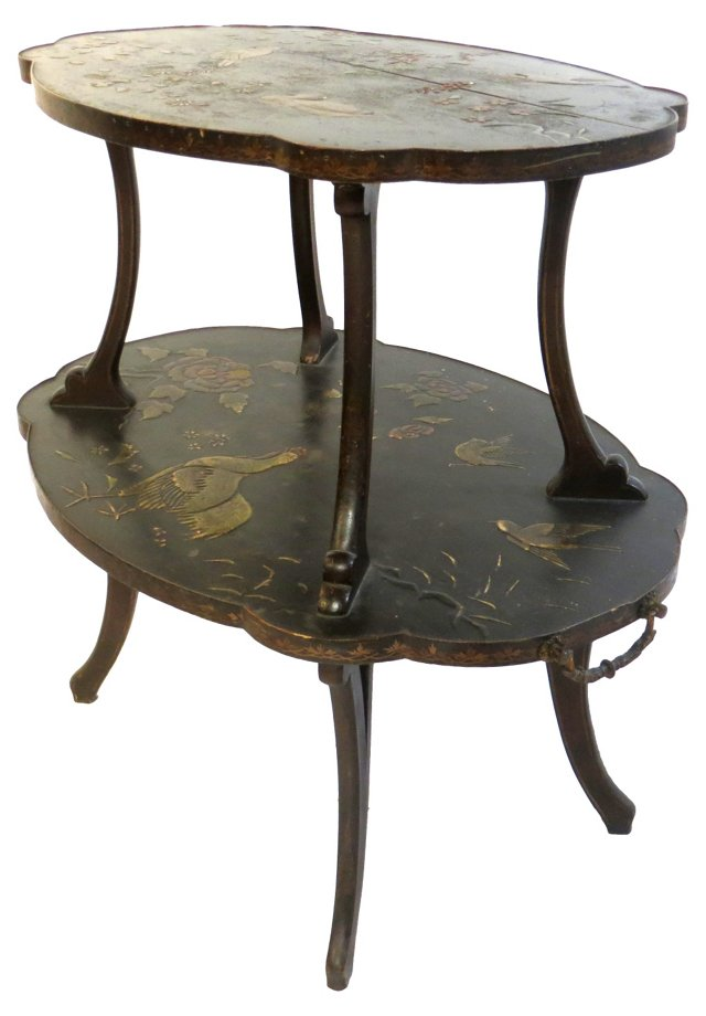 19th-C. French Laquered Tea Table