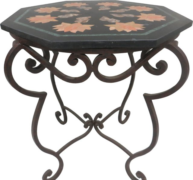 Italian Pietra Dura Side Table