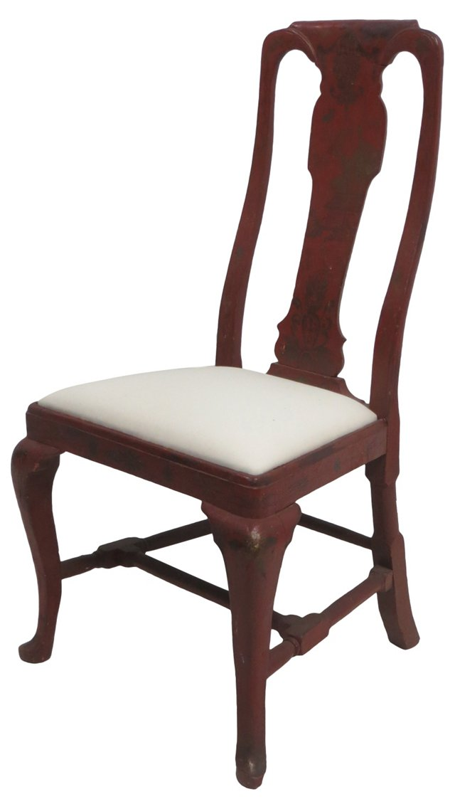 19th-C. Chinoiserie Chair