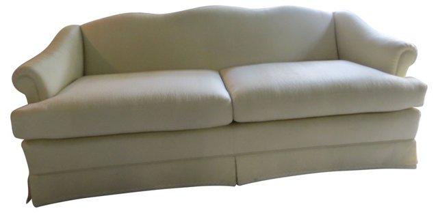 Silk-Upholstered  Sofa