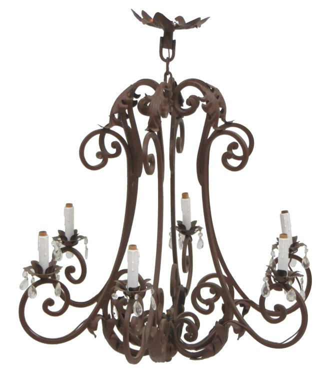 Hand-Wrought Iron Chandelier