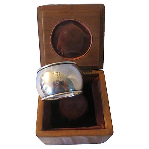 Boxed Georgian Sterling Napkin Ring
