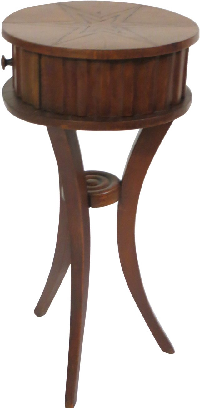 Star-Inlaid Tripod Table