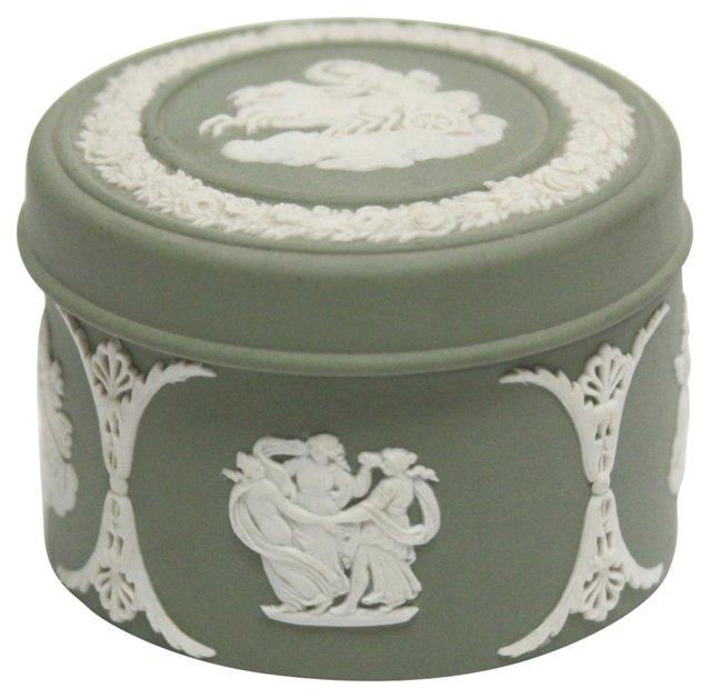 Jasperware Lidded Dresser Box