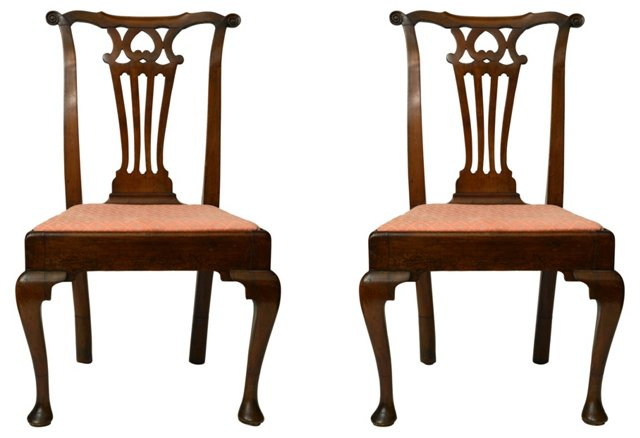 English Side  Chairs, Pair