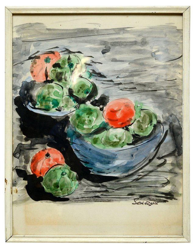 1960s Still Life Watercolor