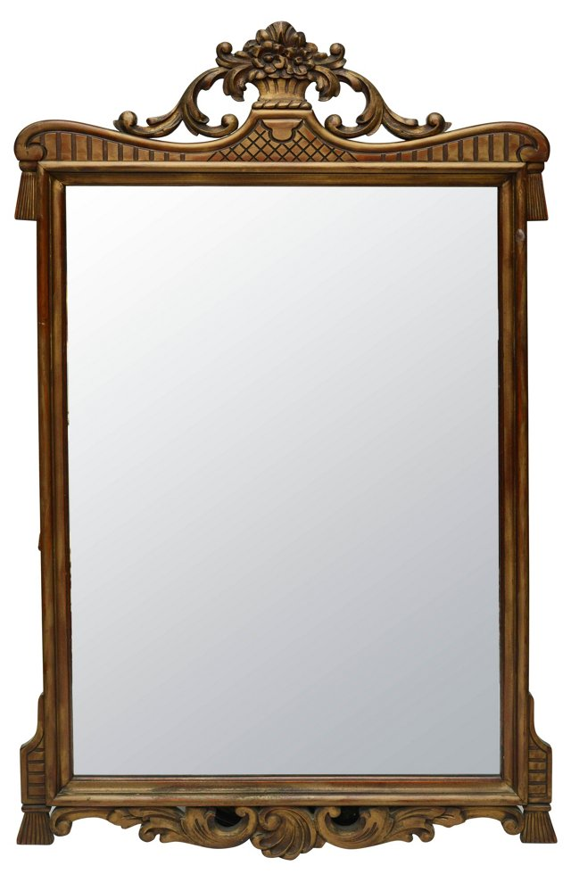 Gold Carved Wood Mirror