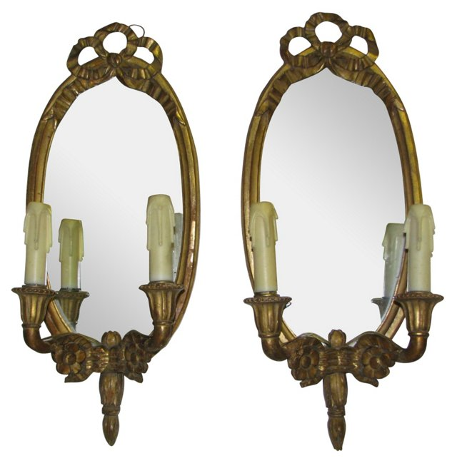 Louis XVI Girandole Sconces, Pair