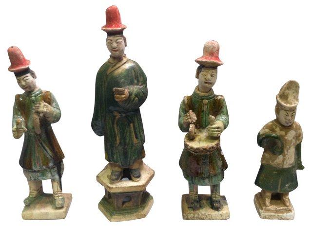 Han Dynasty-Style Figurines, S/4