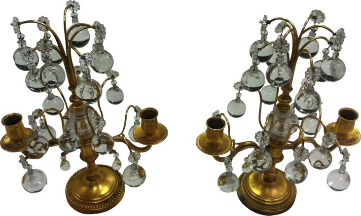 Antique French Candlesticks, Pair