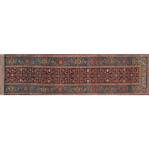 "Persian Bijar Runner, 3'11"" x 15'11"""