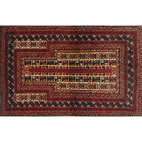 "Afghan Baluch Rug, 2'11"" x 4'9"""