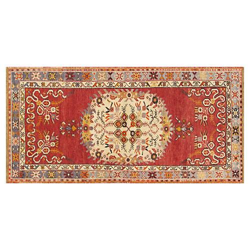 "Turkish Konya Rug, 3' x 6' 1"""