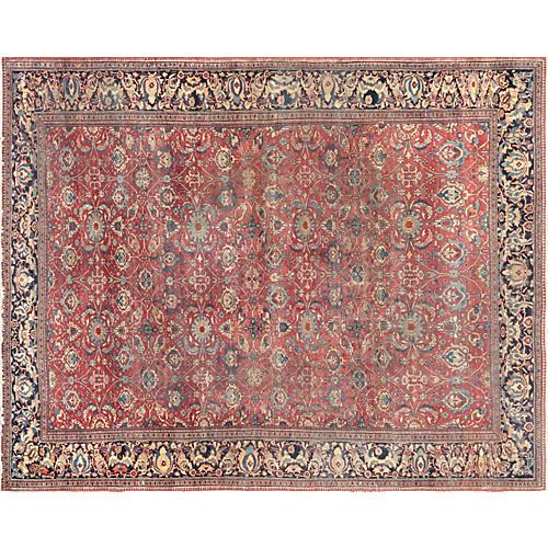 """Persian Farahan Carpet, 10'6"""" x 13'3"""""""