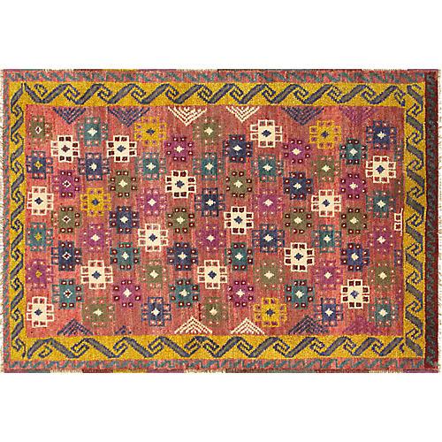"Turkish Anatolian Rug, 3'1"" x 4'6"""
