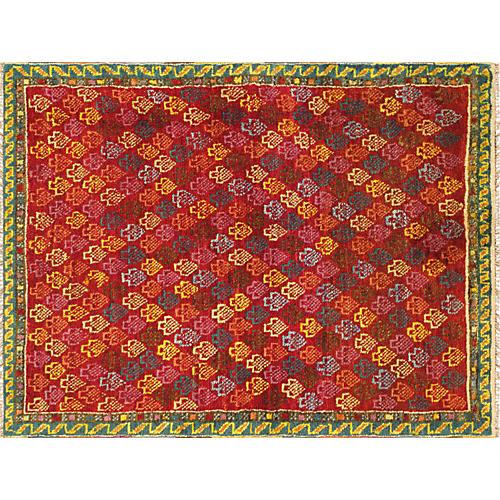 "Turkish Anatolian Rug, 3'5"" x 4'5"""