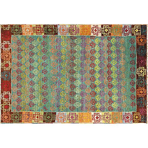 "Turkish Anatolian Rug, 3' x 4'4"""