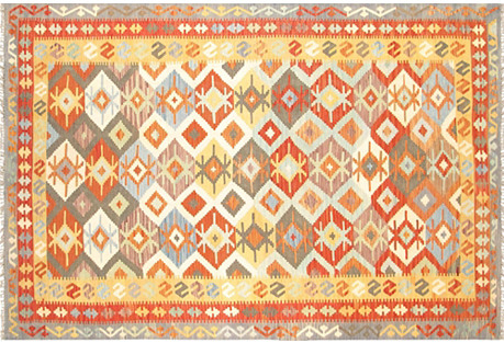 Turkish Kilim, 6'5