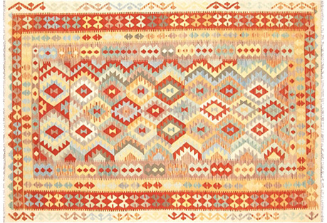 Turkish Kilim, 6'8