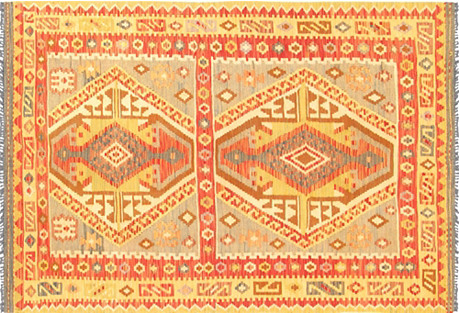 Turkish Kilim, 4'5