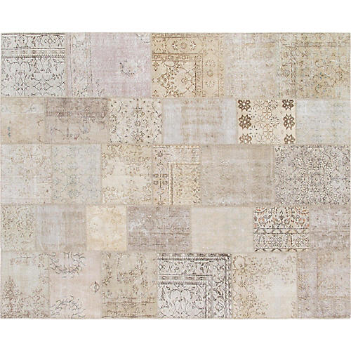 """Patchwork Overdyed Rug, 8'2"""" x 10'"""