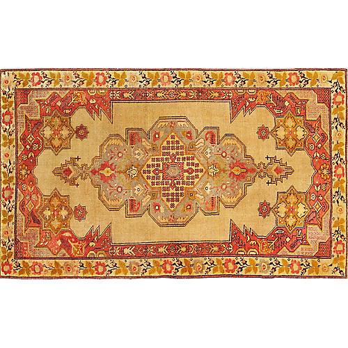 "Turkish Anatolian Rug, 4'7"" X 7'5"""