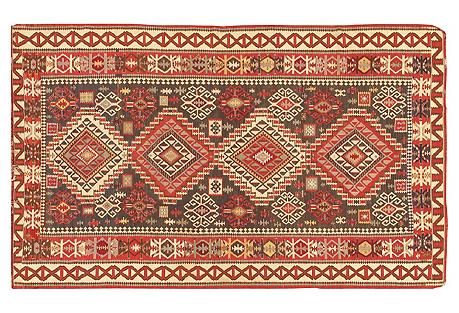 Antique Handwoven Kilim, 7'2