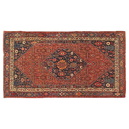 """Antique Bidjar Carpet, 7'7"""" X 13'10"""""""